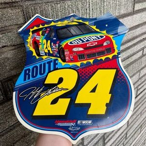 Vintage NASCAR Jeff Gordon Sign